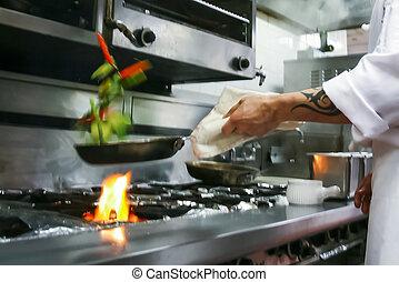 cibo, preparare, ristorante