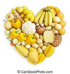 cibo sano, giallo