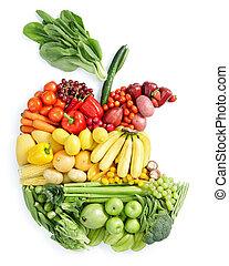cibo sano, mela, bite: