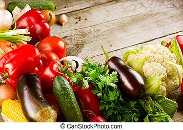 cibo, sano, organico, vegetables., bio
