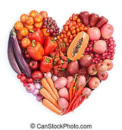 cibo sano, rosso