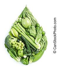 cibo sano, verde