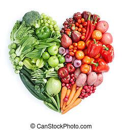 cibo sano, verde rosso