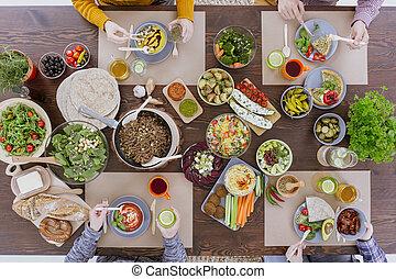cibo, saporito, colorito