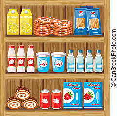 cibo, shelfs, supermarket.