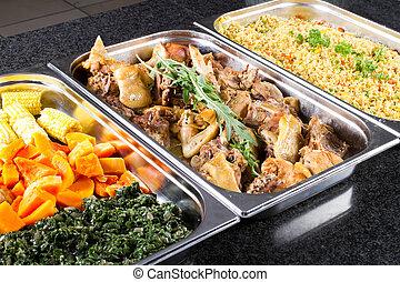 cibo, stile, buffet
