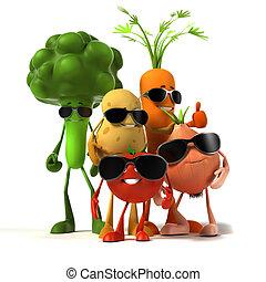 cibo, verdura, -, carattere