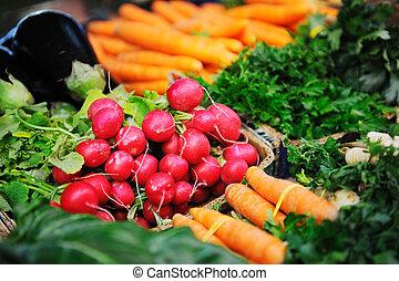 cibo, verdure fresche, organico, mercato