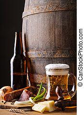 cibo, vita, ancora, birra