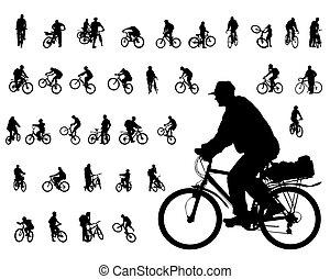 ciclista, persone