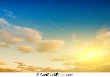 cielo, alba, fondo