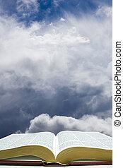 cielo, bibbia, aperto
