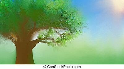 cielo blu, albero