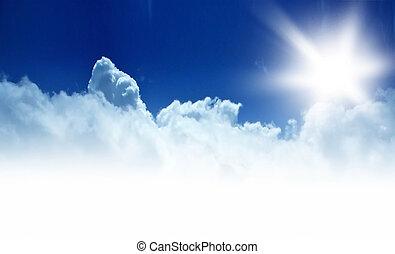 cielo blu, bordo, fondo