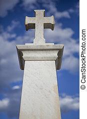 cielo blu, cristiano, croce