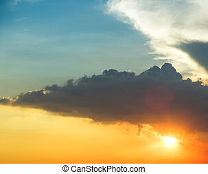 cielo blu, naturale, nubi, fondo