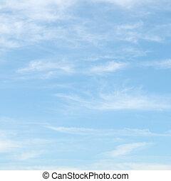 cielo blu, nubi, luce