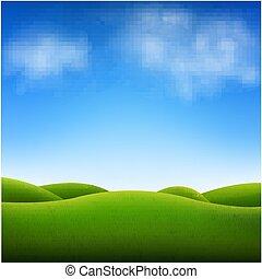 cielo blu, paesaggio