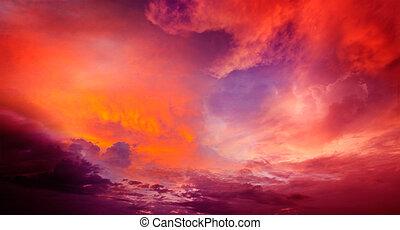 cielo drammatico, rosso