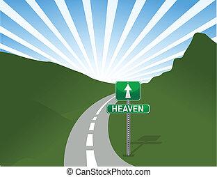 cielo, illustrazione, strada
