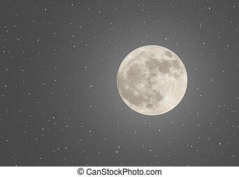 cielo, luna, notte