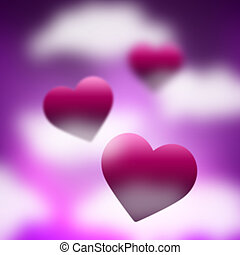 cielo, mezzi, valentines, fondo, giorno, fondale