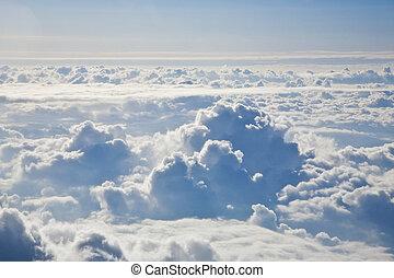 cielo, nubi, sopra