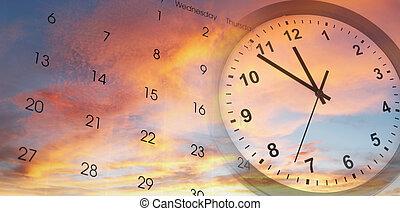cielo, orologio, calendario