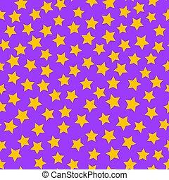cielo, seamless, dorato, viola, stelle, modello, fondo