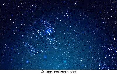 cielo stellato, panorama, notte, spazio