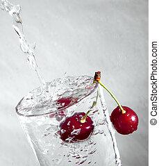 ciliegia, water.