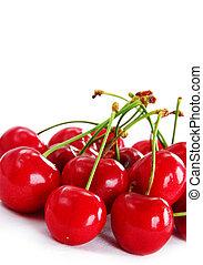 ciliegie, rosso, appetitoso