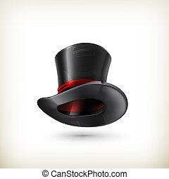 cilindro, vettore, cappello