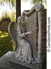 cimitero, angelo