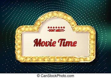 cinema, film, tempo, manifesto, premiere, design.