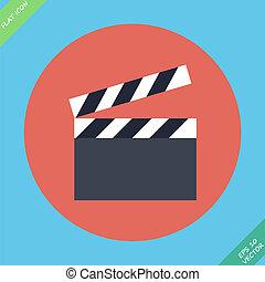 cinema, -, illustrazione, vettore, film, assicella per rivestimento esterno