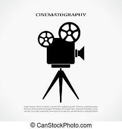 cinema, retro, icona
