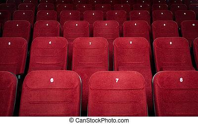 cinema, salone, vuoto, posti