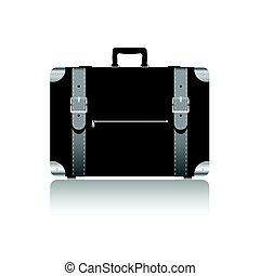 cinture, colorare, viaggiare, illustrazione, borsa, argento