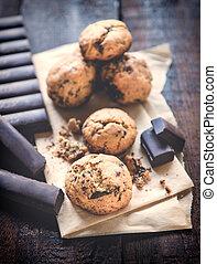cioccolato, dolce, biscotti