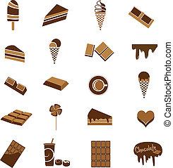 cioccolato, icone