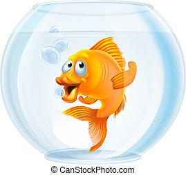 ciotola goldfish, cartone animato