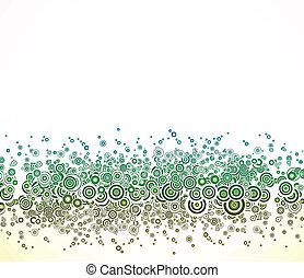 circles., astratto, vettore, sfondo verde