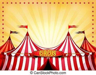 circo, bandiera, cima grande, fondo