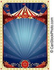 circo, divertimento, manifesto