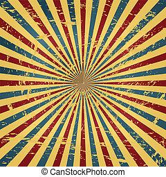 circo, grunge, colorito, fondo