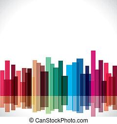 città, astratto, colorito