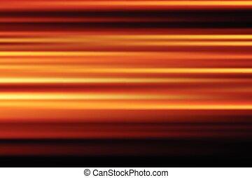 città, astratto, offuscamento, lungo, movimento, luci, vettore, fondo, notte, arancia, velocità, esposizione