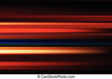 città, astratto, offuscamento, lungo, movimento, luci, vettore, fondo, notte, velocità, rosso, esposizione