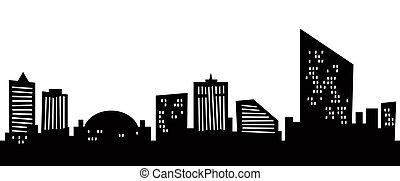 città, atlantico, cartone animato